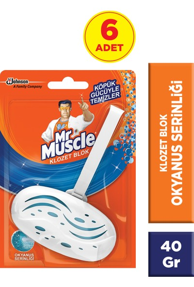 Mr Muscle Klozet Blok Okyanus Serinliği 6'lı