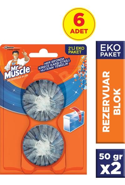 Mr Muscle Rezervuar Blok 2'li Eko Paket 6'lı