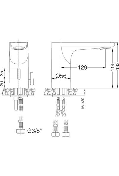 Penta 9006V Fotoselli Lavabo Bataryası