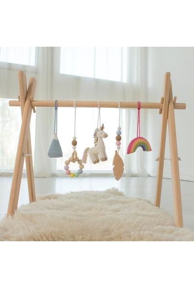 Katre Ahşap Bebek Egzersiz Aleti Oyun Alanı