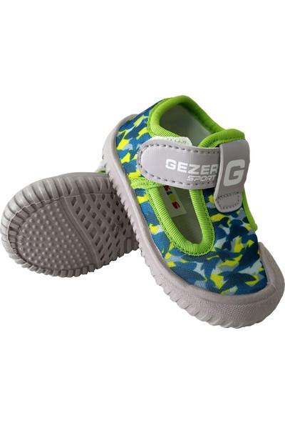 Gezer Trc22-3042 Günlük Petrol Mavi Çocuk Streç Spor Ayakkabı
