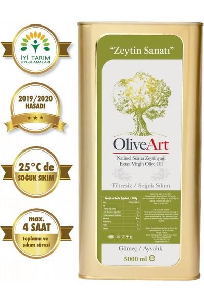 Oliveart 2019 Hasatı Natürel Sızma Soğuk Sıkım Filtresiz Zeytinyağı 5 Lt