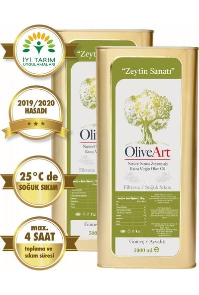 Oliveart 2019 Hasatı Natürel Sızma Soğuk Sıkım Filtresiz Zeytinyağı 2 x 5 Lt