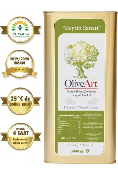 Oliveart 2019 Hasatı Natürel Birinci Soğuk Sıkım Filtresiz Zeytinyağı 5 Lt