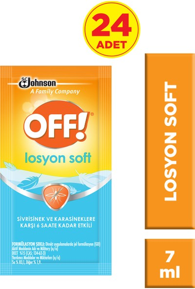 Off Sinekkovar Losyon Soft 7 ml 24'lü