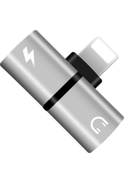 Hd Lightning Şarj Kulaklık Dönüştürücü Beyaz