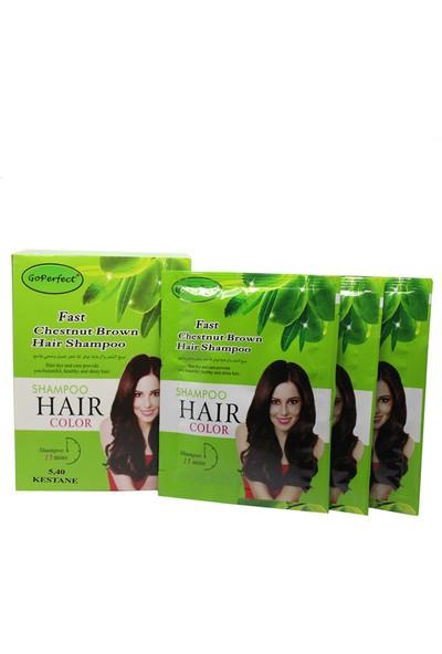 Go Perfect Renklendirici Saç Şampuanı 5.40 Kestane 10X30 300 ml