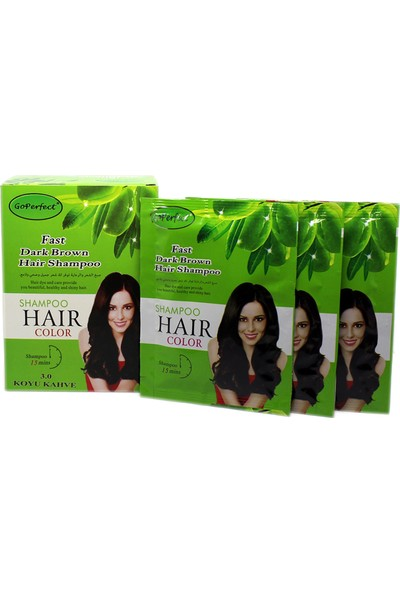 Go Perfect Renklendirici Saç Şampuanı 3.0 Koyu Kahve 10X30 300 ml