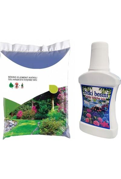 Home Care Özel Çiçek Toprağı Torf Bitki Besini Seti 3 lt