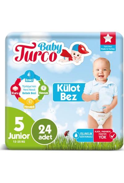 Baby Turco Külot Bez 5 Numara Junıor 24'lü