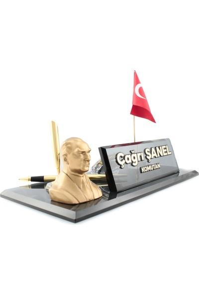 Reklam Atay Kişiye Özel Atatürk Biblo Kabartma Yazı Masaüstü İsimlik
