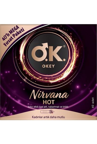 Okey Nirvana Hot 40'lı Prezervatif Avantaj Paketi