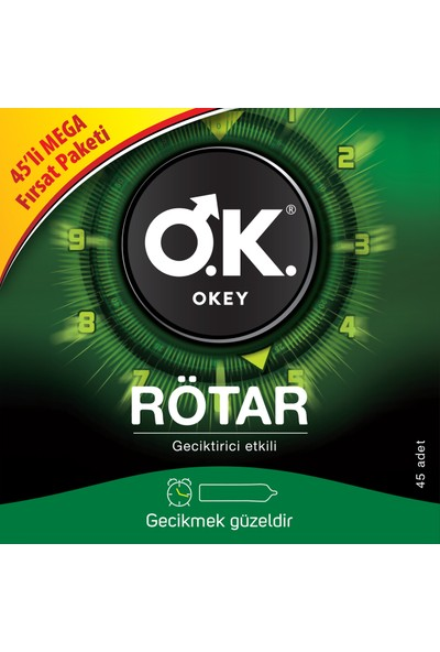 Okey Rötar Geciktiricili 45'li Prezervatif Fırsat Paketi