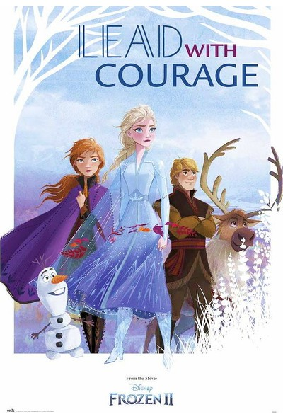 Grupoerik Frozen 2 Lead With Courage Maxi Poster