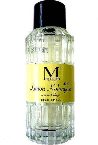 Mojito Cam Şişe Limon Kolonyası 80 Derece 250 ml