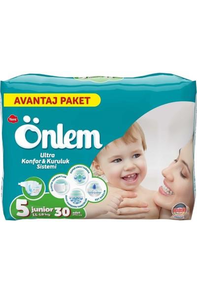 Önlem Bebek Bezi Yeni 5 Numara Junior Paket 30'lu 11 - 18 kg
