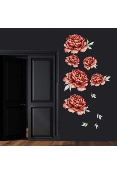 Oracal Şakayık Çiçek Duvar Sticker Bordo