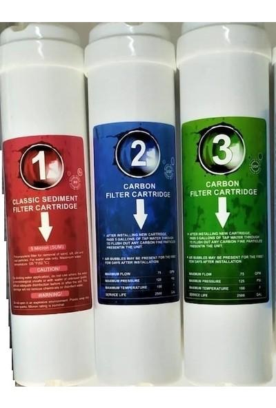 Kapalı Kasa Su Arıtma Cihazları Için Inlıne 3'lü Filtre Takım