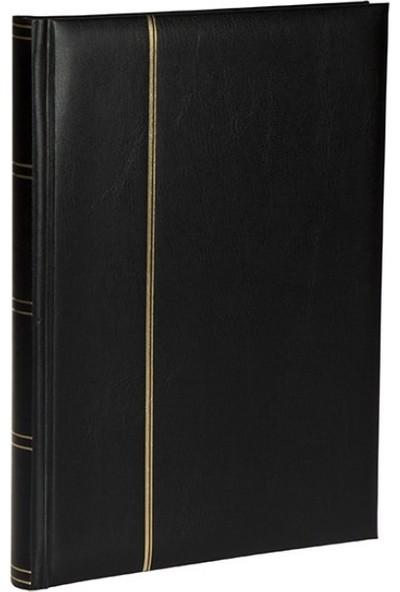Leuchtturm Zarf Koleksiyonu Için A4 Boyut 15 Yaprak 30 Sayfa 60 Adet Bölme Siyah Zemin Siyah