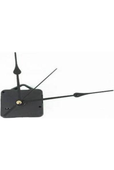 Quartz Akar Sessiz Duvar Saati Mekanizması 18 mm ve Seti (Akrep - Yelkovan - Saniye) Askılı
