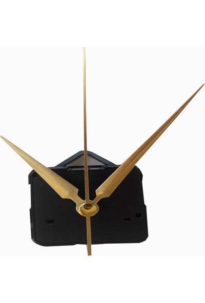 Quartz Akar Sessiz Duvar Saati Mekanizması 16 mm ve Seti (Akrep - Yelkovan - Saniye) Askılı