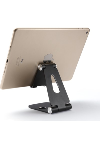 iDock T28-1 Alüminyum Ayarlanabilir Tablet ve Telefon Stand Siyah