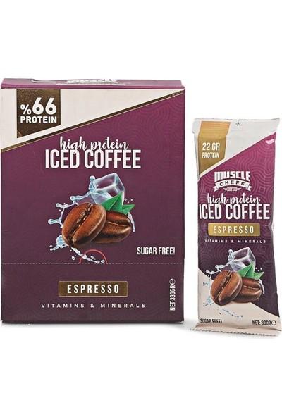 Muscle Cheff High Protein Iced Coffee Espresso 33 gr 10 Saşe