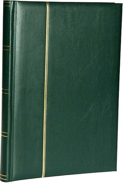 Leuchtturm Zarf Koleksiyonu Için A4 Boyut 15 Yaprak 30 Sayfa 60 Adet Bölme Siyah Zemin Koyu Yeşil
