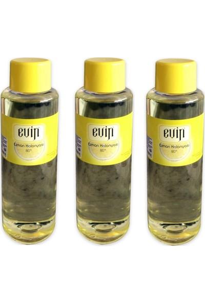 Evin 80 Derece Limon Kolonyası 3 Adet 400 ml