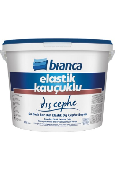 Bianca Elastik Kauçuklu Dış Cephe 15 lt 0101 Beyaz