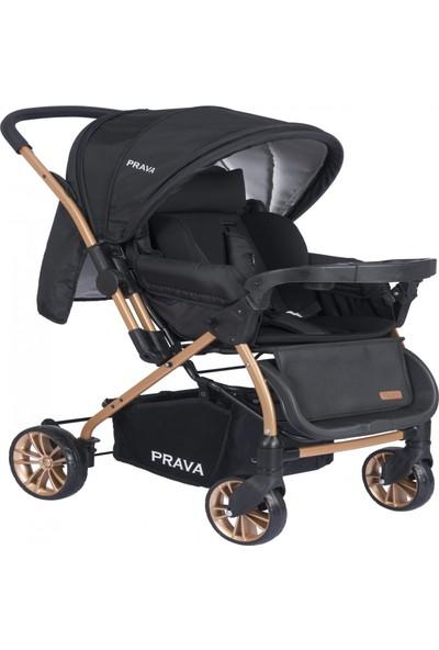 Prava P11 Dream Plus Çift Yönlü Bebek Arabası Gold - Siyah