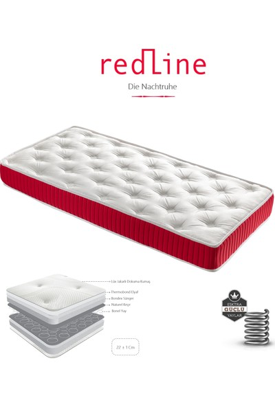 Heyner RedLine Yaylı Yatak Lüx Lüx Jakarlı Yaylı Yatak 90x200 cm