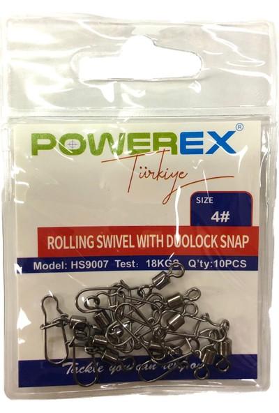Powerex HS9007 8 No. Kilitli Klipsli Fırdöndü 10LU Paket