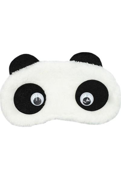 Zirve Bijuteri Kulaklıklı Gözlü Beyaz Peluş Göz Bandı