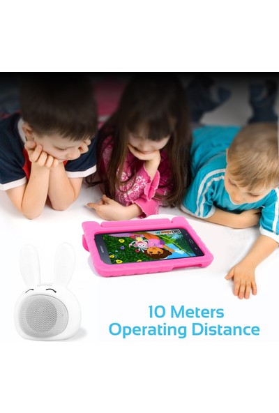Promate Bunny Bluetooth Hoparlör Çocuk Tip Tavşan Tema Mikrofonlu 3W Şarjlı