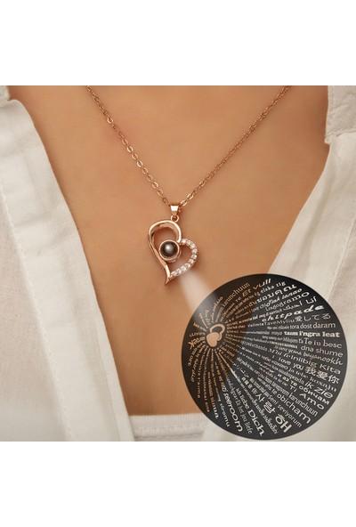 Papatya Silver Seni Seviyorum Yazılı 100 Dilde 925 Ayar Gümüş Kolye