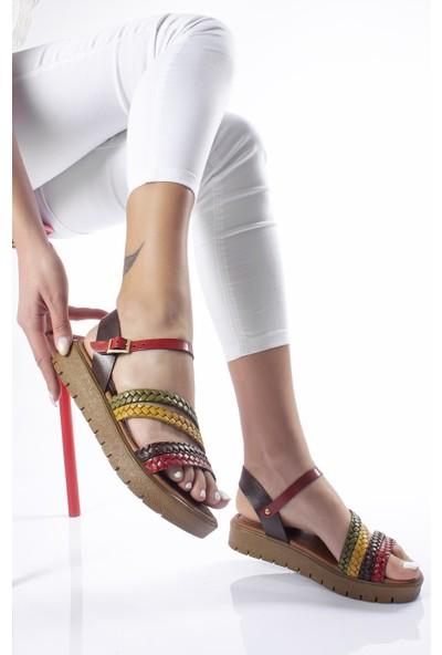 Modagon Arona Deri Sandalet Mix