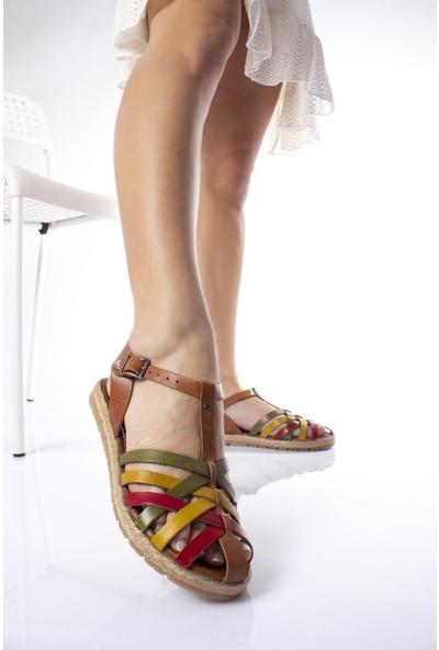 Modagon Hatfield Deri Sandalet Mix