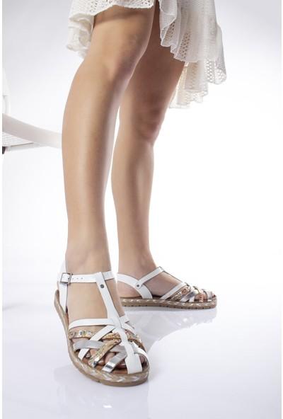Modagon Hatfield Deri Sandalet Mıx3