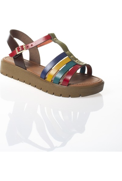Modagon Lezoux Hakiki Deri Sandalet Mix