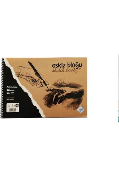 Art Liva Dokulu Eskiz Defteri 50 Sayfa A3 90 gr