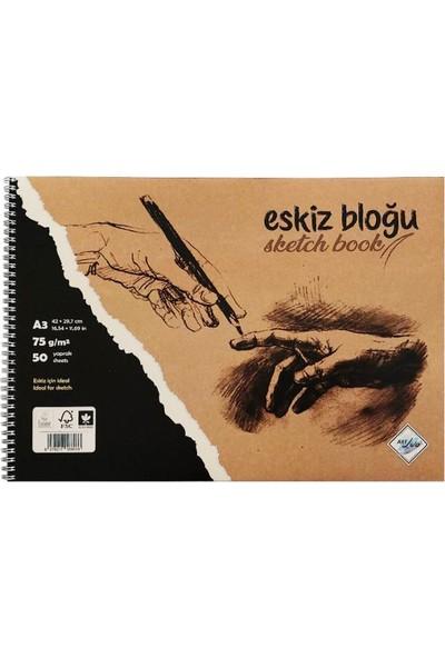 Art Liva Dokusuz Eskiz Defteri 50 Sayfa A3 75 gr