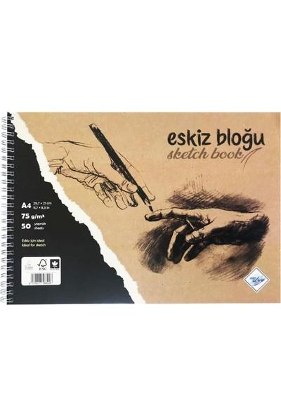 Art Liva Dokusuz Eskiz Defteri 50 Sayfa A4 75 gr