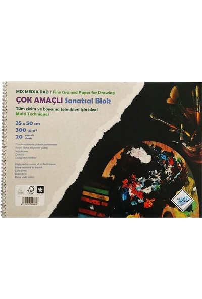 Art Liva Sanatsal Resim Defteri Sulu Teknik 20 Sayfa 300 gr 35 x 50 cm