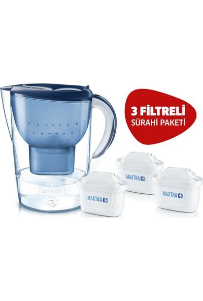 BRITA Mavi Marella XL 3 Yedek Filtreli Su Arıtmalı Sürahi Paketi