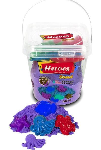 Heroes Kovalı Kinetik Kum 500 gr Mor