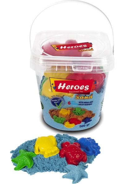 Heroes Kovalı Kinetik Kum 500 gr Turkuaz