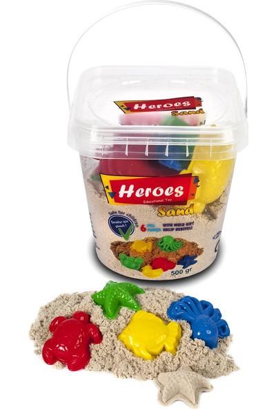 Heroes Kovalı Kinetik Kum 500 gr Naturel