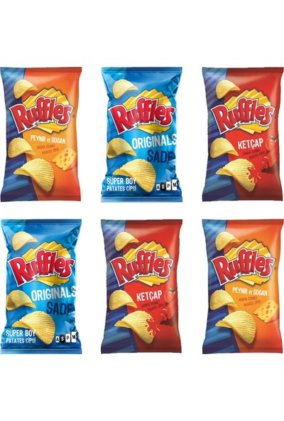 Ruffles Ketçap & peynir & clasic Çeşnili Cips 103 gr X 6'lı