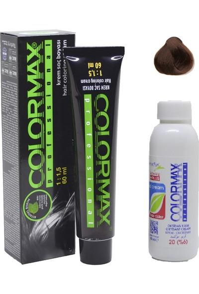 Colormax 7.35 Kumral Dore Akaju + Oksidan Krem 90 ml